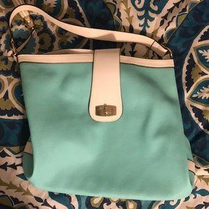 Leather Aqua shoulder bag